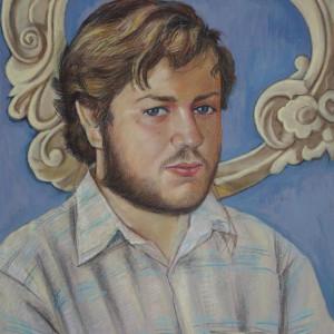 Портрет Виталия. б., пастель, темпера,  50х60, 2009 г.