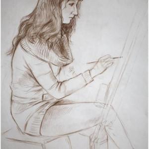 Набросок в студии. б. сепия, 40х60, 2010 г.
