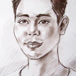 Портрет вьетнамца. б. сепия, 30х40, 2015 г.