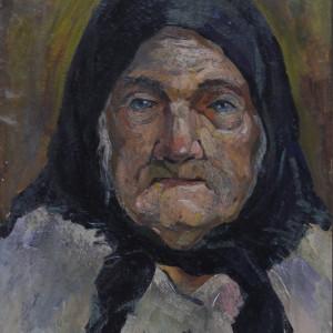 Портрет бабушки. к.м. 30х40. 1982 г.