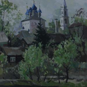 Село  Пушкино, этюд. х.м., 40х50, 2005 г.