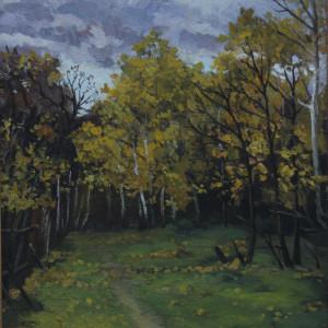 Осень.Пасмурный день. х.м., 50х60, 1998 г.