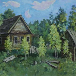 Заброшенный дом. х.м., 50х70, 2016 г.