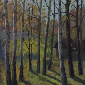 Осень в парке. х.м., 35х50, 1993 г.