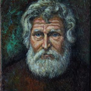 Портрет  старика, х. на орг., м., 50х60, 2019 г.