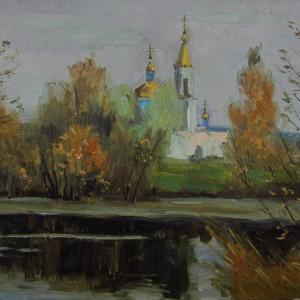 Этюд. Село Ходары, х.м., 40х60, 2019 г.